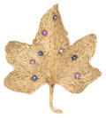 Estate Jewelry:Brooches - Pins, Sapphire, Ruby, Gold Brooch. ...
