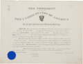 Autographs:U.S. Presidents, Theodore Roosevelt Military Appointment Signed with Related Ephemera.... (Total: 3 Items)