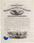 Autographs:U.S. Presidents, Theodore Roosevelt Military Appointment Signed....