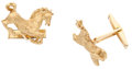 Estate Jewelry:Cufflinks, Gold Cuff Links. ...