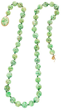 Jade, Gold Necklace