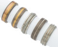 Estate Jewelry:Rings, Gold, Titanium, Stainless Steel Gentleman's Rings. ... (Total: 5 Items)