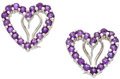 Estate Jewelry:Earrings, Amethyst, White Gold Earrings. ...