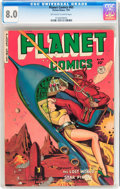Golden Age (1938-1955):Science Fiction, Planet Comics #65 (Fiction House, 1951) CGC VF 8.0 Off-white towhite pages....