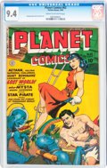 Golden Age (1938-1955):Science Fiction, Planet Comics #62 (Fiction House, 1949) CGC NM 9.4 Cream tooff-white pages....