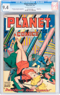 Golden Age (1938-1955):Science Fiction, Planet Comics #53 (Fiction House, 1948) CGC NM 9.4 Off-white towhite pages....