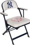 Baseball Collectibles:Others, 2000's Alex Rodriguez New York Yankees Locker Room Chair WithSteiner Letter. ...