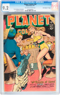 "Golden Age (1938-1955):Science Fiction, Planet Comics #50 Davis Crippen (""D"" Copy) pedigree (Fiction House,1947) CGC NM- 9.2 Off-white to white pages...."