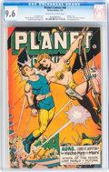 Golden Age (1938-1955):Science Fiction, Planet Comics #46 (Fiction House, 1947) CGC NM+ 9.6 Off-white towhite pages....