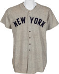 Baseball Collectibles:Uniforms, 1946-48 Bill Bevens Game Worn New York Yankees Uniform, MEARSA10....