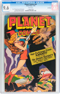 Golden Age (1938-1955):Science Fiction, Planet Comics #45 Lost Valley (Fiction House, 1946) CGC NM+ 9.6White pages....