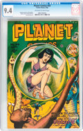 Golden Age (1938-1955):Science Fiction, Planet Comics #44 (Fiction House, 1946) CGC NM 9.4 Off-white to white pages....