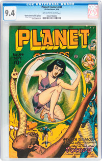 Planet Comics #44 (Fiction House, 1946) CGC NM 9.4 Off-white to white pages