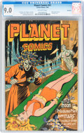 Golden Age (1938-1955):Science Fiction, Planet Comics #41 Rockford pedigree (Fiction House, 1946) CGC VF/NM9.0 Off-white pages....