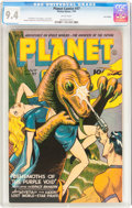 Golden Age (1938-1955):Science Fiction, Planet Comics #37 Lost Valley pedigree (Fiction House, 1945) CGC NM 9.4 White pages....