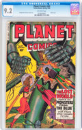 Golden Age (1938-1955):Science Fiction, Planet Comics #64 (Fiction House, 1950) CGC NM- 9.2 Off-white pages....