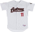 Baseball Collectibles:Uniforms, 2006 Brad Ausmus Game Worn Houston Astros Jersey. ...