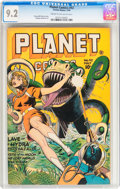 Golden Age (1938-1955):Science Fiction, Planet Comics #42 (Fiction House, 1946) CGC NM- 9.2 Cream tooff-white pages....