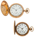 Timepieces:Pocket (post 1900), Waltham & Illinois Pocket Watches Runners. ... (Total: 2 Items)