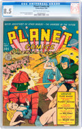 Golden Age (1938-1955):Science Fiction, Planet Comics #8 (Fiction House, 1940) CGC VF+ 8.5 Light tan to off-white pages....