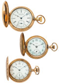 Timepieces:Pocket (post 1900), A Lot Of Three Hunter's Case Pocket Watches. ... (Total: 3 Items)