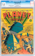 Golden Age (1938-1955):Science Fiction, Planet Comics #9 (Fiction House, 1940) CGC FN/VF 7.0 Cream tooff-white pages....
