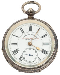 J.G. Graves Sheffield Key Wind Pocket Watch