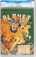 Golden Age (1938-1955):Science Fiction, Planet Comics #16 (Fiction House, 1942) CGC VF+ 8.5 Off-whitepages....