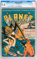 Golden Age (1938-1955):Science Fiction, Planet Comics #19 Lost Valley pedigree (Fiction House, 1942) CGC NM9.4 Off-white to white pages....