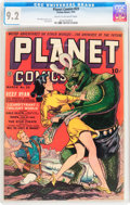 Golden Age (1938-1955):Science Fiction, Planet Comics #23 (Fiction House, 1943) CGC NM- 9.2 Cream tooff-white pages....