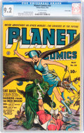 Golden Age (1938-1955):Science Fiction, Planet Comics #24 Central Valley pedigree (Fiction House, 1943) CGCNM- 9.2 Off-white pages....