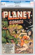 Golden Age (1938-1955):Science Fiction, Planet Comics #25 (Fiction House, 1943) CGC VF+ 8.5 Cream tooff-white pages....