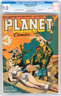 Golden Age (1938-1955):Science Fiction, Planet Comics #26 Rockford pedigree (Fiction House, 1943) CGC VF/NM9.0 Cream to off-white pages....