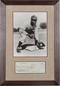 Autographs:Checks, 1948 Jackie Robinson Signed Check....