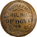 Baseball Collectibles:Balls, 1874 Trophy Baseball from Game Between Rival Fire Departments....