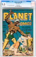 Golden Age (1938-1955):Science Fiction, Planet Comics #30 (Fiction House, 1944) CGC VF/NM 9.0 Off whitepages....