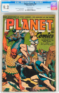 Golden Age (1938-1955):Science Fiction, Planet Comics #28 Rockford pedigree (Fiction House, 1944) CGC NM-9.2 Off-white pages....