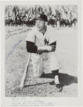 Baseball Collectibles:Photos, 1956 Mickey Mantle Signed Photograph from Triple Crown Season. ...