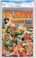 Golden Age (1938-1955):Science Fiction, Planet Comics #31 (Fiction House, 1944) CGC VF/NM 9.0 Cream tooff-white pages....