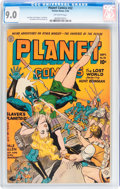 Golden Age (1938-1955):Science Fiction, Planet Comics #32 (Fiction House, 1944) CGC VF/NM 9.0 Off-white pages....