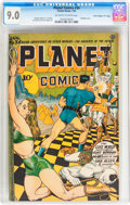 "Golden Age (1938-1955):Science Fiction, Planet Comics #34 Davis Crippen (""D"" Copy) pedigree (Fiction House,1945) CGC VF/NM 9.0 Off-white to white pages...."