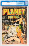 Golden Age (1938-1955):Science Fiction, Planet Comics #33 (Fiction House, 1944) CGC VF/NM 9.0 Cream tooff-white pages....