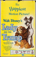 "Movie Posters:Animation, Lady and the Tramp & Other Lot (Buena Vista, R-1962). OneSheets (2) (27"" X 41""). Animation.. ... (Total: 2 Items)"