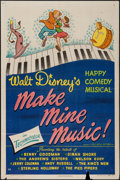 "Movie Posters:Animation, Make Mine Music (RKO, 1946). One Sheet (27"" X 41""). Animation.. ..."