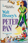 """Movie Posters:Animation, Peter Pan (Buena Vista, R-1969). One Sheet (27"""" X 41""""). Animation.. ..."""