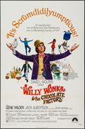 """Movie Posters:Fantasy, Willy Wonka & the Chocolate Factory (Paramount, 1971). OneSheet (27"""" X 41""""), Uncut Pressbook (8 Pages, 12"""" X 15""""), &Exhibi... (Total: 3 Items)"""