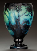 Art Glass:Other , DELATTE OVERLAY GLASS LANDSCAPE VASE. Circa 1900. Cameo ADELATTE, NANCY, 2. Ht. 11-1/4 in.. ...