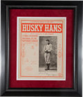 "Baseball Collectibles:Others, 1904 Honus Wagner ""Husky Hans"" Sheet Music...."