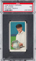 Baseball Cards:Singles (Pre-1930), 1909-11 T206 Sweet Caporal Hal Chase (Holding Trophy) PSA NM 7....
