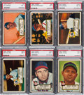 Baseball Cards:Lots, 1952 Topps Baseball PSA NM 7 Collection (6) - Stars and HoFers. ...